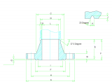 J Size Drawing Dimensions Rtj Flange Dimensions Class 150 to Class 2500