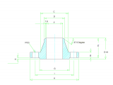 J Size Drawing Dimensions Weld Neck Flange Dimensions Class 150 to Class 2500