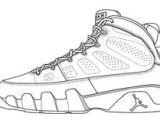 Jordan 9 Drawing 21 Best Nba Images Drawings Shoe Template Coloring Books