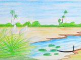 Jungle Drawing Easy How to Draw Scenery Of Autumn Season Step by Step Very Easy