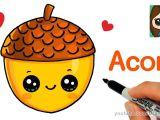 Kawaii Cute Drawings Easy How to Draw A Cute Acorn Easy Youtube Easy Disney