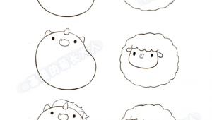 Kawaii Easy Cute Animal Drawings Unicorn Sheep Animal Drawings Ideias Para Desenho