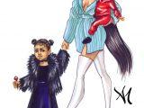 Kim K Drawing Armand Mehidri Kuwtk Kim Kardashian north Saint West Tv Shows