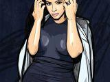 Kim K Drawing Kim Kardashian Cartoon Drawing
