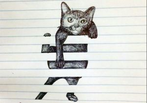 Kitten Drawing Tumblr Gato Papel Pautado Abstract Art Pinterest Drawings Art