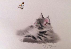 Kitten Drawing Tumblr Yutaka Murakami S Cats Watercolor and Fluffy Livemaster