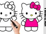 Kitty Drawing Easy How to Draw A Hello Kitty A Easy Pictures to Draw Step by
