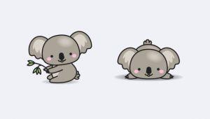 Koala Drawing Tumblr Premium Vector Clipart Kawaii Koala Cute Koalas Clipart Set