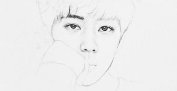 Kpop Drawing Easy Pin by Falcone On Exo Exo Fan Art Kpop Drawings Sketches