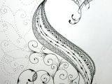 Letter K Drawing Zentangle Alphabet Drawing On Bright White Drawing Paper with