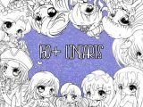 Line Drawing Anime Js Yampuff Ausmalbild Sammlung 150 Seid sofortiger Etsy