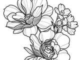 Line Drawing Girl Flowers Floral Tattoo Design Drawing Beautifu Simple Flowers Body Art