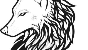 Line Drawing Of A Wolf Head Draw Wolf Tattoo Drawing and Coloring for Kids Tattoos Wolf