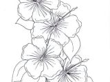 Line Drawing Of Hibiscus Flowers Hibiscus Coloring Page Fresh Hibiscus Flower Coloring Page