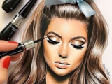 Makeup Girl Drawing Pin by Princessd On I Love This In 2018 Pinterest Makeup Art
