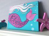 Mermaid Tail Drawing Easy Mermaid Tail Art Baby Girl Art Mermaid Girls Room Under the