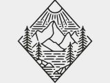 Mountain Easy Drawing Aurora Powertrains Enjoy the Silence Of Nature Mountain