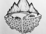 Mountain Easy Drawing Micron Mountains Easy Pen Drawing Easy Animal Drawings