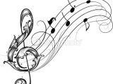 Music Notes Easy Drawing Noten Blume Kunst Notenschlussel Tribal Tattoos Fur