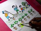 Number 7 Cartoon Drawing How to Draw Clean India Green India Drawing for Kids Youtube