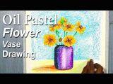 Oil Pastel Drawing Flowers Easy 6575 Simple Flower Vase Drawing for Beginners In Oil Pastel