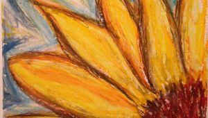 Oil Pastel Drawings Of Easy Flowers Sunflower Abstract Oil Pastel Drawing by Onny Artbyonny Art