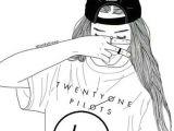 One Drawing Of A Girl Wallpaper Emo Aesthetic Tumblr Cute Love Girl Twenty One Pilots