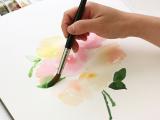 Paint Brush Drawing Easy Watercolor Tutorial Watercolour Tutorials Watercolor Art