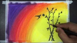 Painting Drawing Easy Painting Of Oil Pastel Oil Pastel Drawing Easy