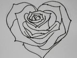 Pencil Drawings Of Roses and Hearts Heart Drawings Dr Odd