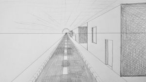 Platform Drawing Easy Fluchtpunktperspektive Mit Einem Punkt Straa E Zum Horizont