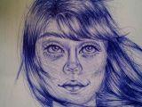 Portrait Drawing Of A Girl Girl Drawing Haare Zeichnen Und Zeichnen