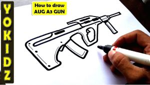 Pubg Mobile Drawing Easy How to Draw Aug A3 Gun From Pubg