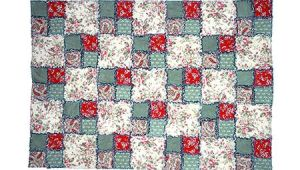 Quilt Drawing Easy Easy Double Four Patch Rag Quilt Pattern