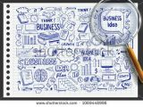 R Drawing Vectors Business Idea Doodles Icons Set Business Work Doodles Doodle