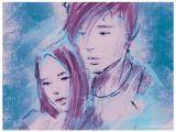 R Girl Drawing Boy and Girl Illustration by Alexandra Gumprecht Www