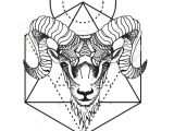 Ram Animal Drawing Geometric Tattoo Geometric Animal Tattoo Aries Ram