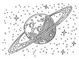 Saturn Drawing Easy Hand Drawn Vector Drawing Of A Satellite In Space Black and