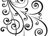 Scroll Drawing Easy A Fancy Vectorized ornate Scroll Design with Ungrouped