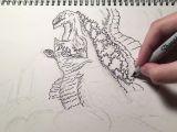 Shin Godzilla Drawing Easy Speed Drawing Shin Godzilla by Doodlezilla