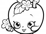 Shopkins Drawing Easy Print Fruit Apple Blossom Shopkins Season 1 Coloring Pages