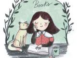 Simple Drawing Of A Girl Reading A Book 272 Best Reading Illustrations Images Illustrations Books to Read