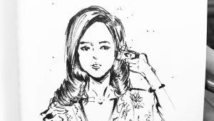 Sketch Drawing Of Girl Girl Sketch by Manchiart Girl by Manchiart Dailydrawing