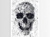 Skull Drawing Canvas Ali Gulec S Doodle Skull Poster Art Skulls Skull Art Doodles