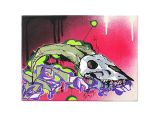 Skull Drawing Canvas Winar Hirnkrank original 30x40cm Leinwande Kunst