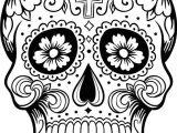 Skull Drawing Colour Ca Digo C 028 Coloring Skull Coloring Pages Sugar Skull Skull