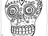 Skull Drawing Colour Dia De Los Muertos Sugar Skull Coloring Pages for Kids Classroom