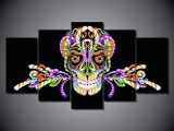 Skull Drawing Digital 2019 Colorful Digital Skull Printed Painting No Frame Home Decor