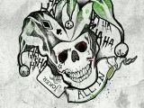 Skull Drawing Joker Pin by Anna Arze On Drawing Pinterest Squad Harley Quinn Tattoo