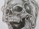 Skull Drawing Smoke Skull and Cross Tattoo Designs Smoke Skull Tattoo by tommyyu